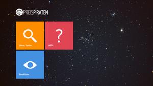 Screenshot mit der dezenten Benutzeroberfläche